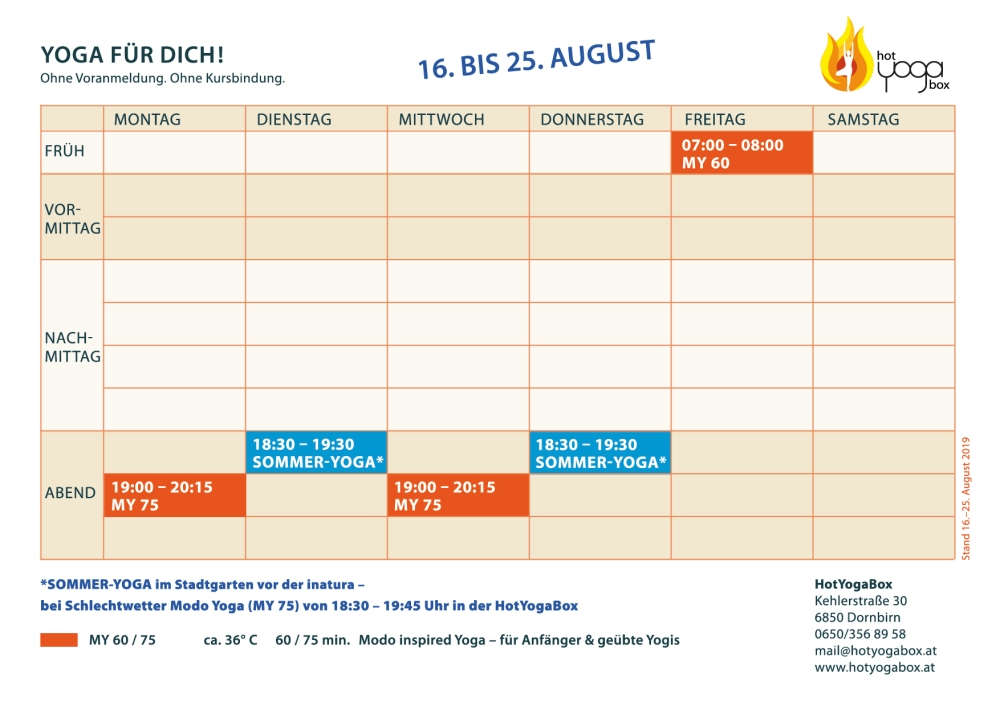 HotYogaBox_Stundenplan_2019-08-16 bis 25